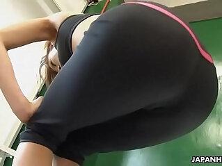 1:38 - Astonishing Japanese babe got horny during the solo fitness training -