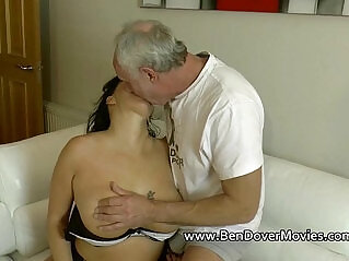 7:49 - English milf gags on ben Dovers Cock -