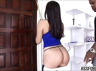 6:41 - Sexy brunette model Valentina enjoys anal sex -