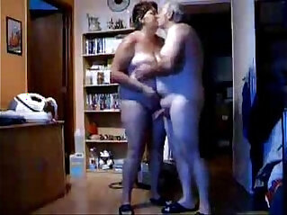 2:14 - Hidden cam caught my parents home alone having fun in living room -