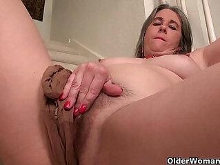 12:02 - Naughty granny Bossy Rider loves fingering her asshole -