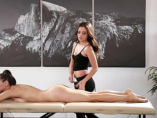 6:43 - Celeste Star meets her masseuse fangirl Gia Paige Fantasy Massage -