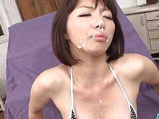 12:10 - Izumi Manaka needy mommy loves cum on face -