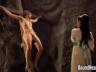 7:29 - Mistress Strapon To Two Slaves -