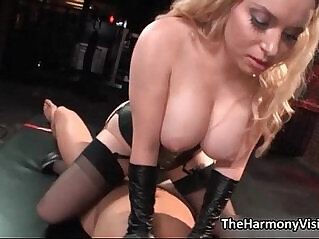 5:04 - Busty blonde whore goes crazy jerking -