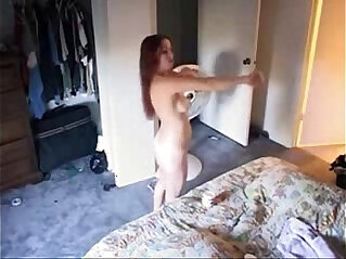 4:34 - Faboulos view of my sister nude in bed room. Hidden cam -