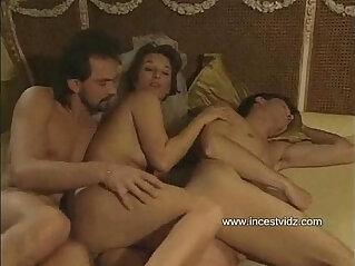 13:33 - Mom tries to entice her son into threesome with her boyfriend -