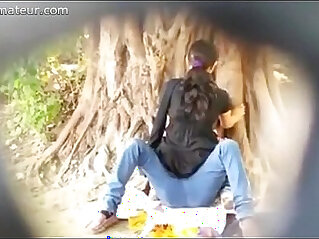 Spying on Indian Couple caught fucking in Park