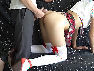 13:49 - Step brother fucks sister who did not go to school but play on camera with magic wand -