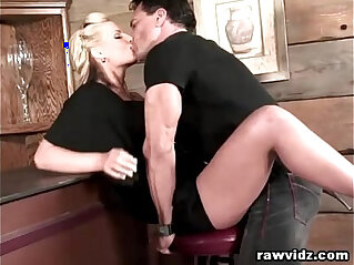 9:30 - Busty Blonde Hooks Up With The Hunk Bartender -