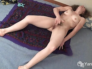 6:37 - Curly Haired Nina Fingering Her Slick Quim -