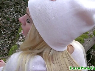 8:21 - Pulled blonde outdoor fuck -