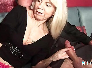 5:48 - French mature in stockings gets double penetrated in a swinger club -