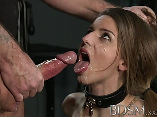 BDSM XXX Young big breasted sub gets slammed hard anal from her Master
