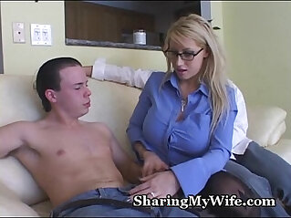 5:06 - Busty Blonde Mommy Shared With Buddy -