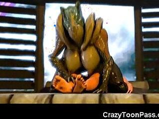 3:51 - 3D Female Aliens Fucking Big Cocks! -