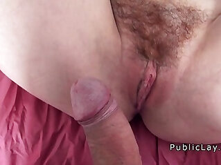 7:53 - Hairy redhead picked up in public -