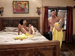 6:48 - Mom and adopted daughter caught on Nina Elle, Gina Valentina -