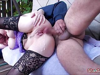 10:02 - Kinky canadian milf shanda fay gets ass fucked in her backyard -