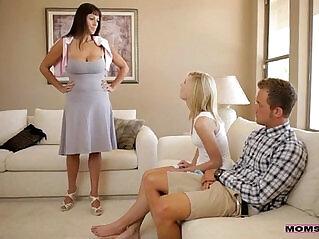 2:12 - Moms Teach Sex Mom catches horny sexy teen couple -