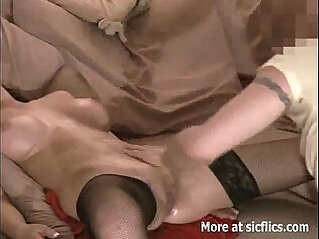 5:40 - Fisting my girlfriends ass and pussy till she leaks piss -