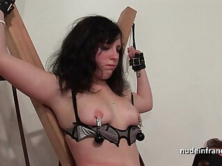 Young brunette fucked real hard sodomized fisted and corrected in bdsm game