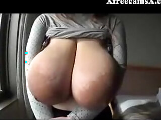 8:05 - Asian Chick shows off insanely massive tits -