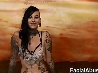 10:57 - new Tatted freak slut Tank rough fucking and DP -