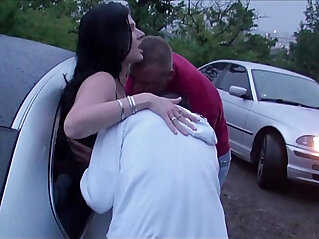 11:25 - Extreme PUBLIC dogging foursome with a pregnant girl -