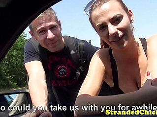 8:07 - Real stranded couple fuck for voyeur driver -
