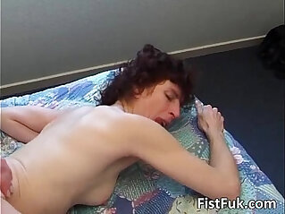 34:15 - After hardcore sex guy inserts whole -