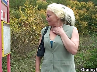 6:25 - Granny whore is picked up and fucked -
