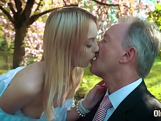 10:13 - Young blonde moaning fucking an old man she swallows his cumshot -