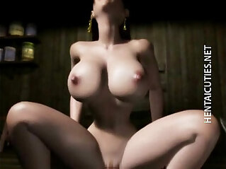 5:17 - Horny 3D anime babe gets pussy jizzed -