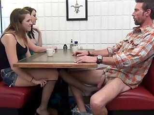 12:23 - Cialis Porn Tube Buy Cialis daughter gives Footjob and BJ to not her dad Under Table Porn Tube -