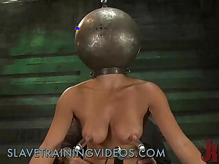 9:06 - Busty babe has been punished and pussy fucked by dildo -