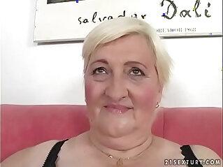 6:34 - Fat grandma Cecilia fucked real hard -