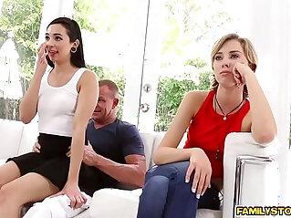 6:37 - Malina Mars gagging her step dads cock -