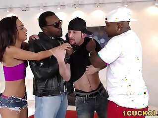 8:49 - Amara Romani Double Penetrated by BBCs Cuckold Sessions -