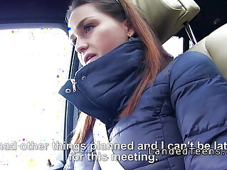 7:41 - Busty amateur blonde amateur teen tits and grab cock in car to stranger -