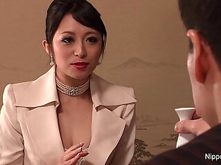8:09 - Japanese babe in stockings gets her ass fucked -