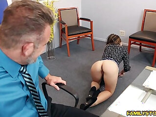 7:52 - Bambi Brooks rides her dads matured cock on top -