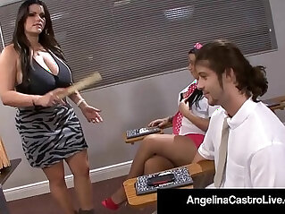 8:08 - Latina teacher angelina castro forces student to wack a cock -