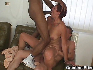 6:49 - Interracial threesome action with old bitch -