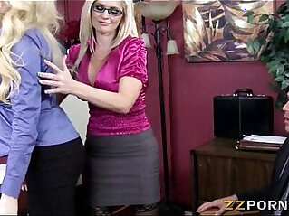 5:22 - Big boobs bosses Alena Croft and Summer Brielle threesome -