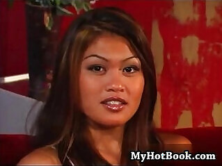 24:57 - Charmane Star is a very pretty Asian who has long -