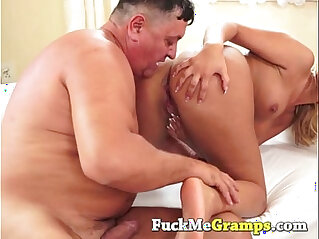 9:06 - Teen fingering her pussy fucked by old dick -