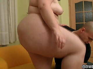 6:55 - Cute plumper is picked up and doggystyled -