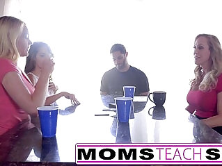 8:20 - MomsTeachSex Hot Mom Teen Friends Orgy With Neighbor -
